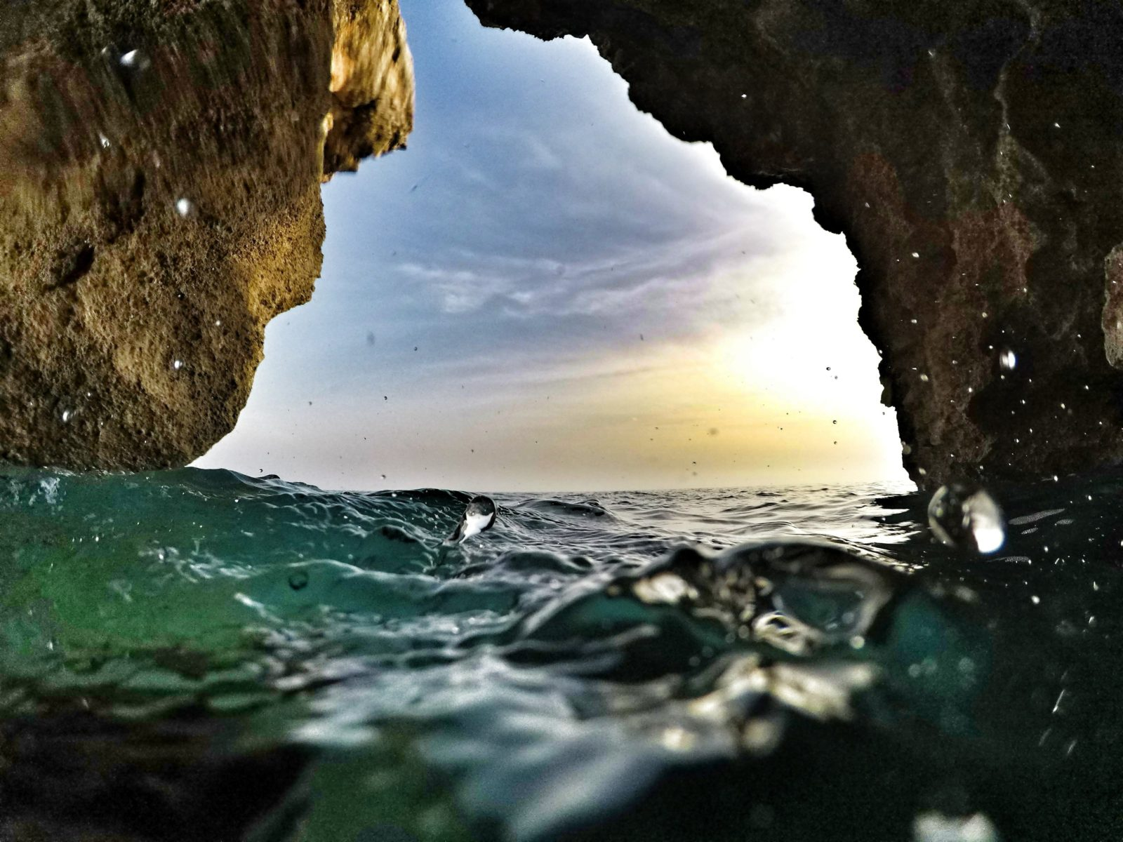Sea caves of Cyprus a picture from within