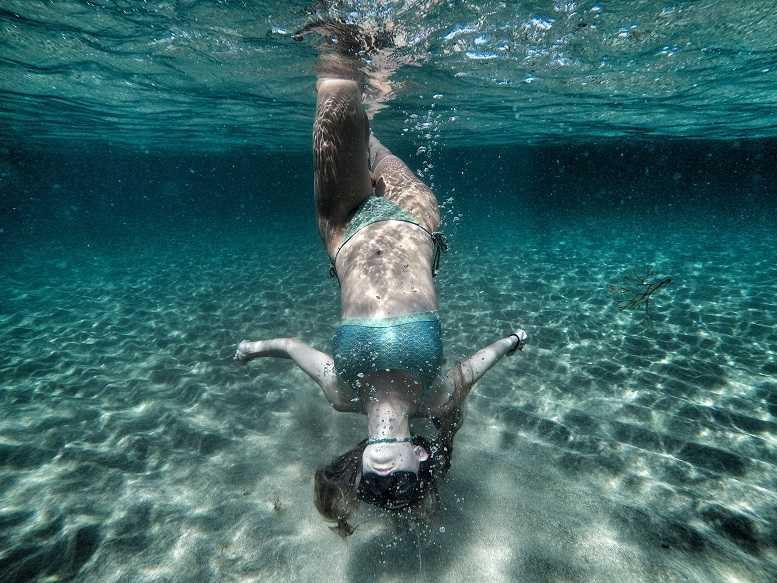 Dancing Queen in the clear blue waters of Cyprus - Picture by Fanos Avouri