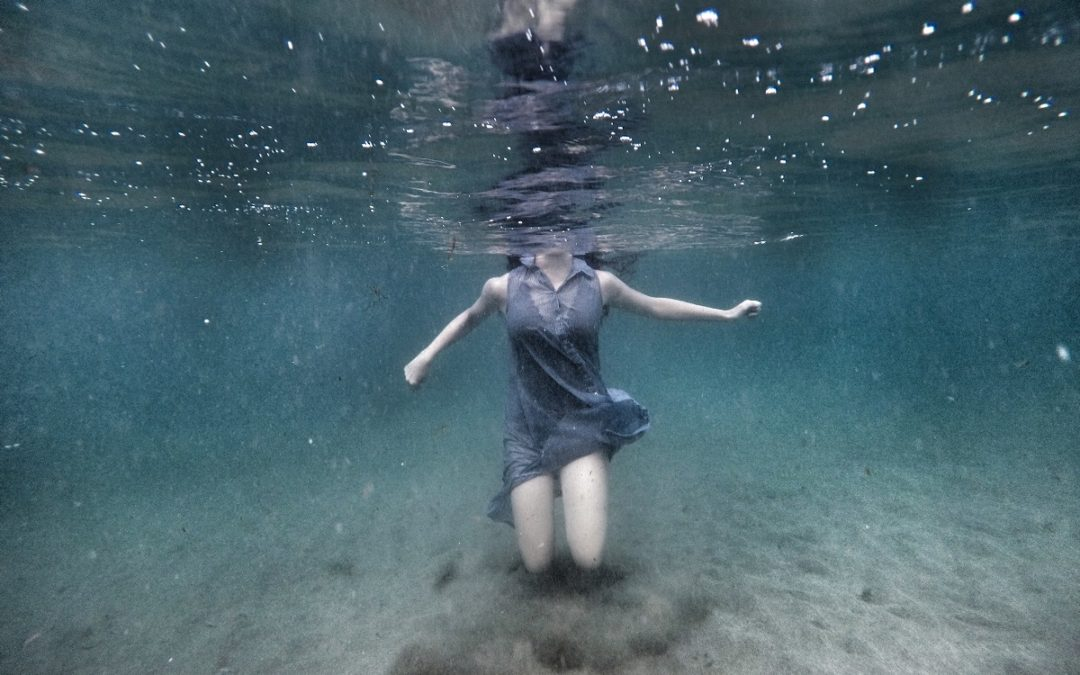 Waterdancing in the clear blue waters of Cyprus